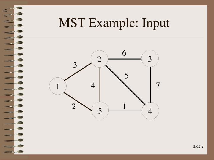 Mst example input