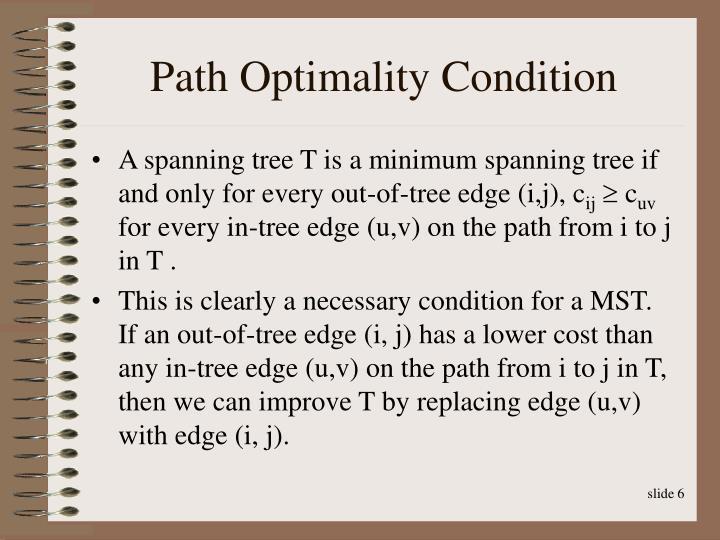 Path Optimality Condition