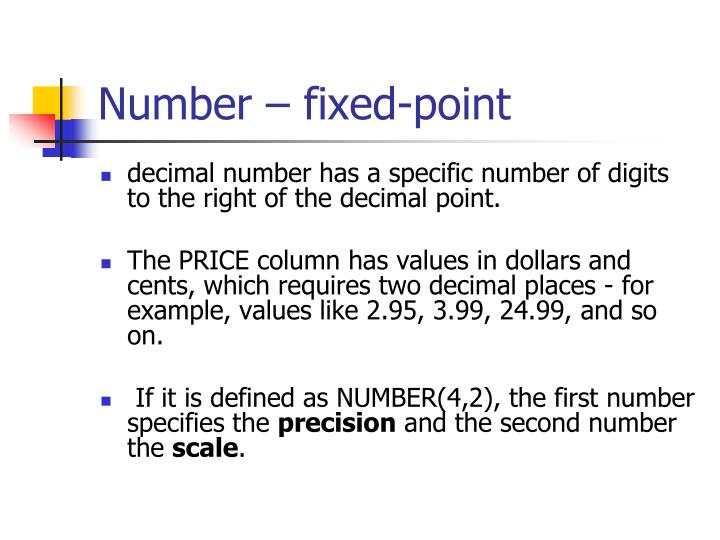 Number – fixed-point