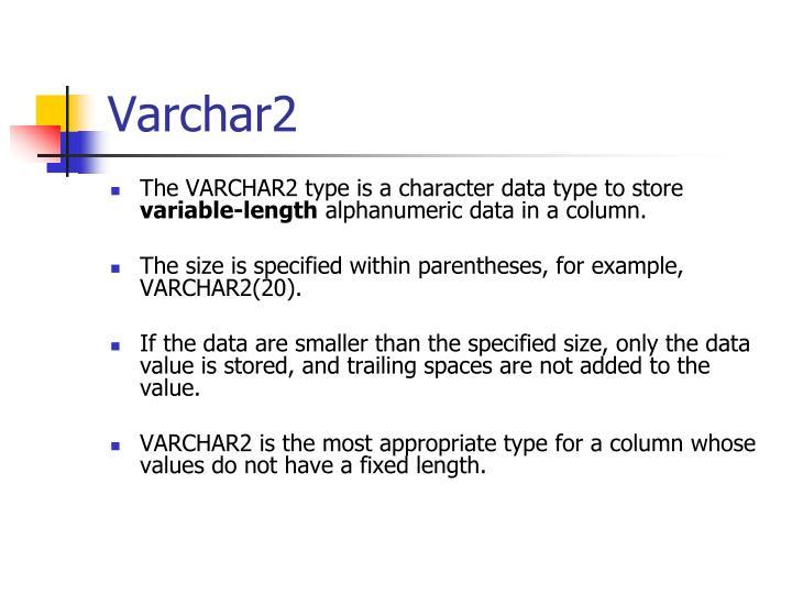 Varchar2