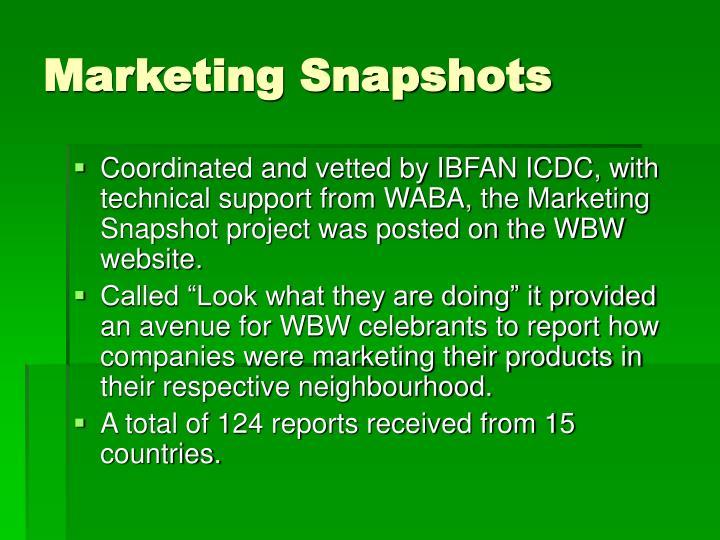 Marketing Snapshots