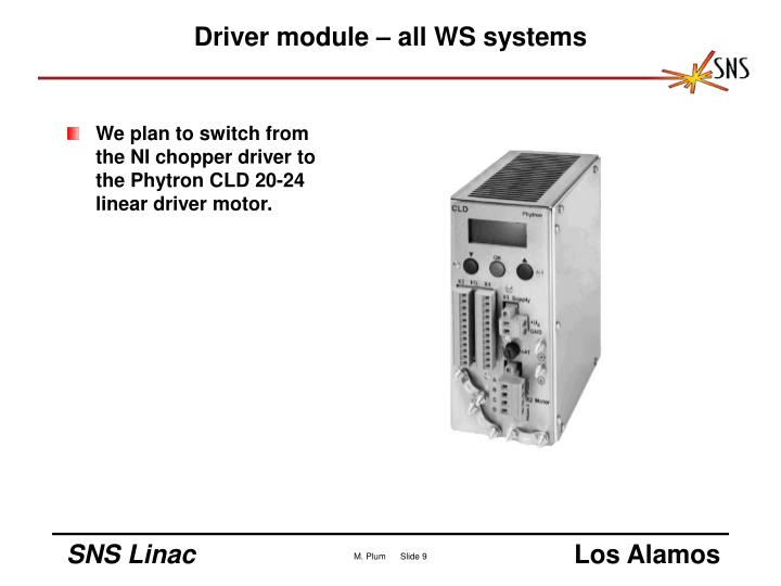 Driver module – all WS systems