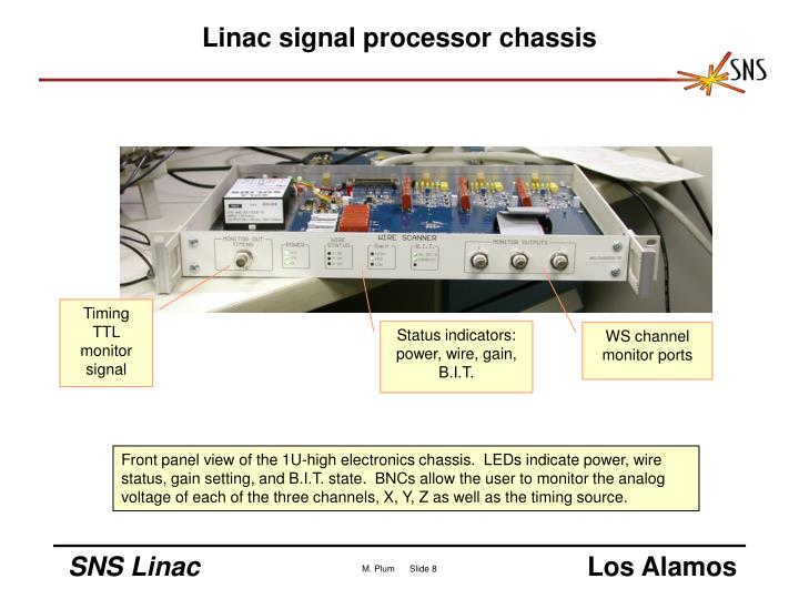 Linac signal processor chassis