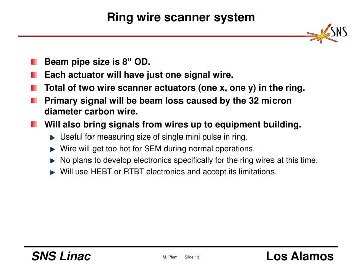 Ring wire scanner system