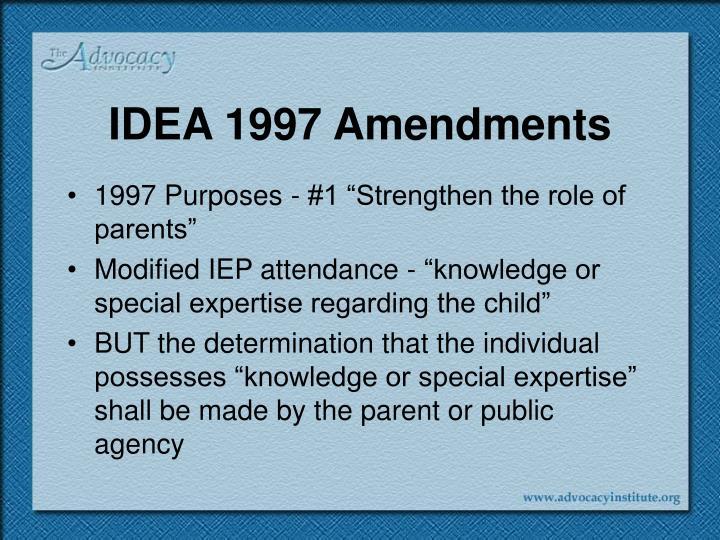 IDEA 1997 Amendments