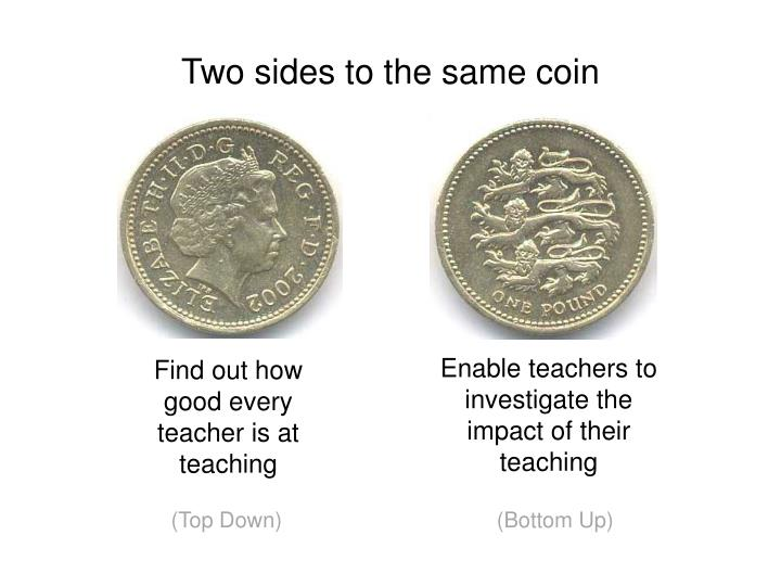 Two sides to the same coin