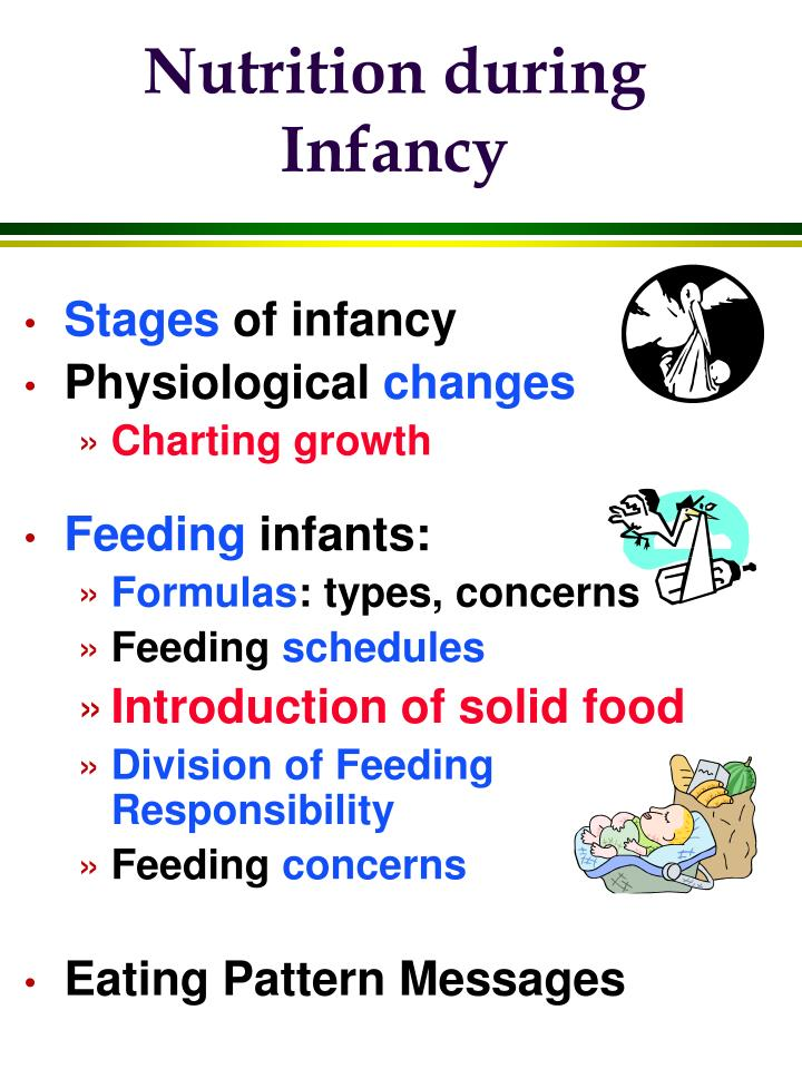 Nutrition during infancy