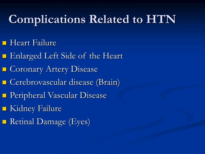 Complications Related to HTN