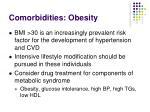 comorbidities obesity