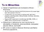 tx in minorities