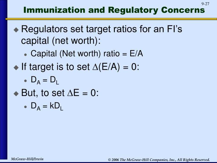 Immunization and Regulatory Concerns