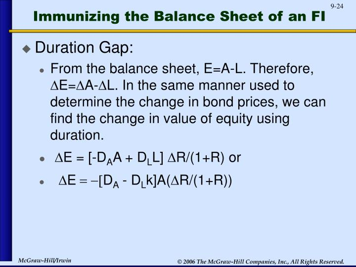 Immunizing the Balance Sheet of an FI