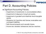 part d accounting policies