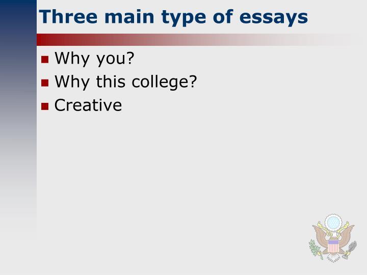 Three main type of essays