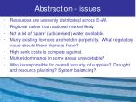 abstraction issues