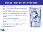 recap review of competition