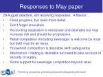 responses to may paper