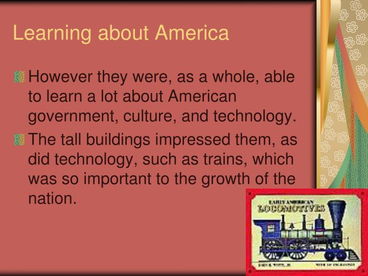 Learning about America