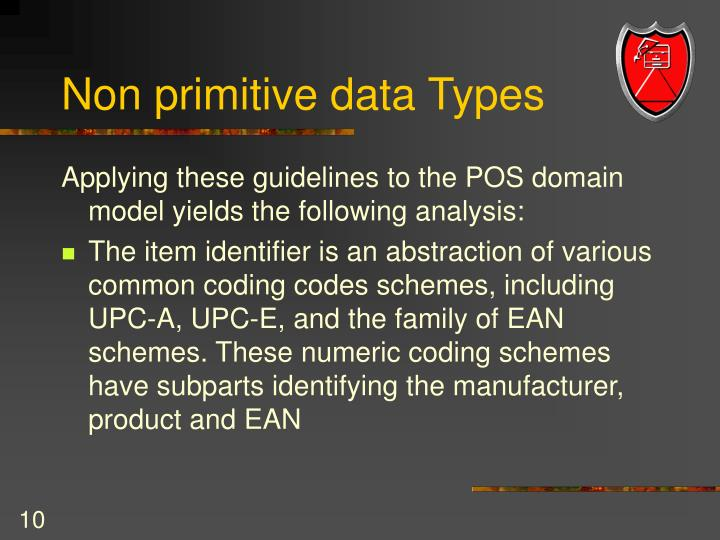 Non primitive data Types