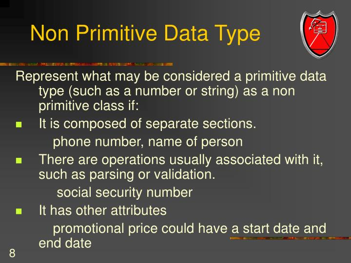 Non Primitive Data Type