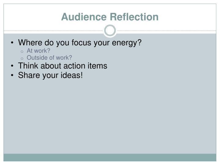 Where do you focus your energy?