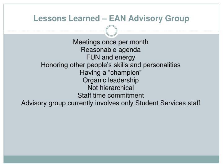 Meetings once per month