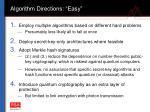 algorithm directions easy
