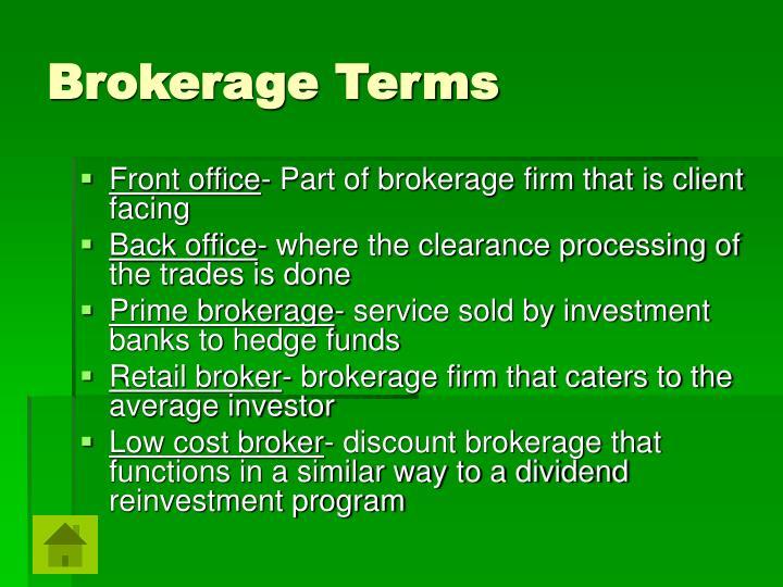 Brokerage Terms