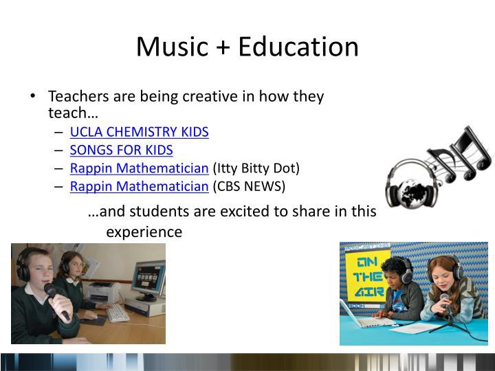 Music + Education