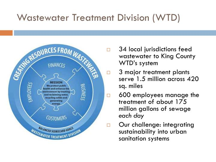 Wastewater treatment division wtd