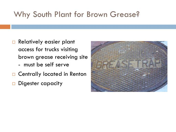 Why South Plant for Brown Grease?