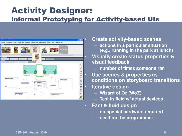 Activity Designer: