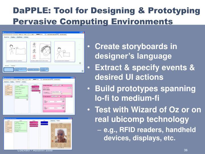 DaPPLE: Tool for Designing & Prototyping Pervasive Computing Environments