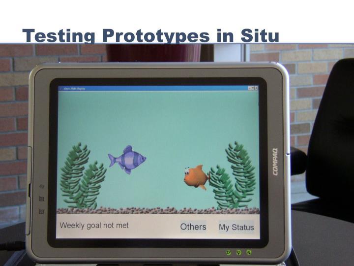 Testing Prototypes in Situ