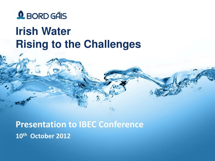 irish water rising to the challenges n.