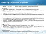 metering programme principles