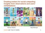 creating avatars for social computing insights from observations and users verbalizations