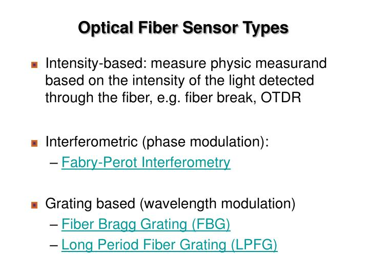 Optical Fiber Sensor Types