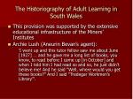 the historiography of adult learning in south wales1