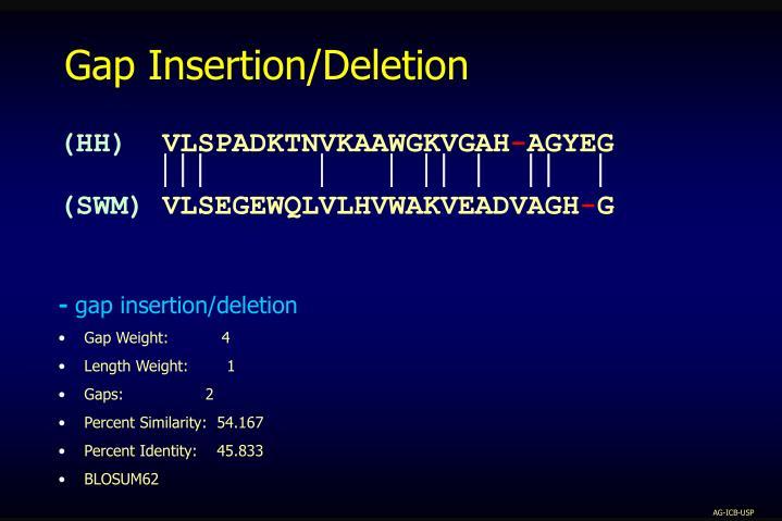 Gap Insertion/Deletion