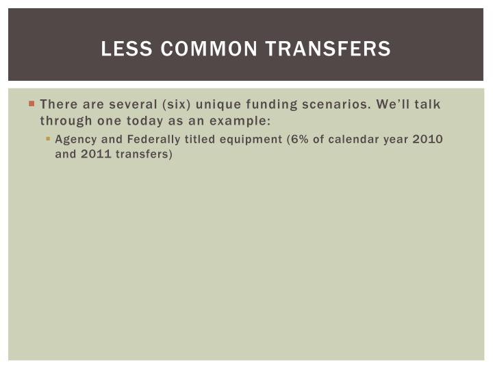 Less Common Transfers