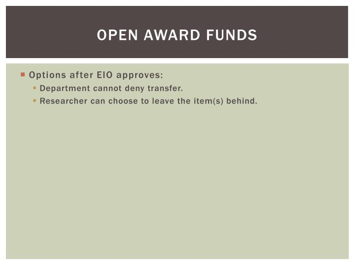 Open Award Funds