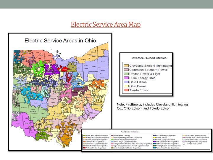 Electric service area map