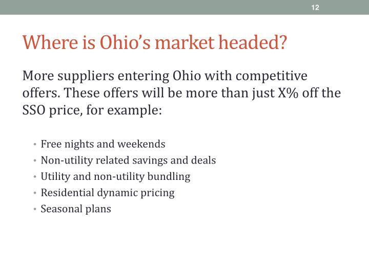 Where is Ohio's market headed?