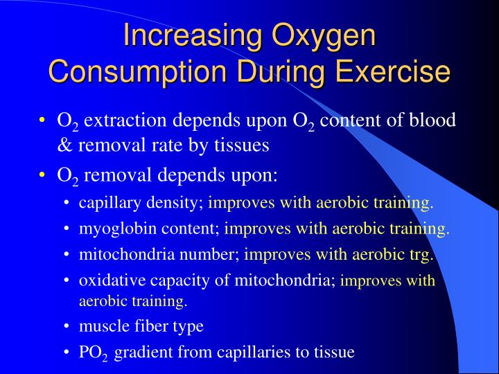 Increasing Oxygen Consumption During Exercise