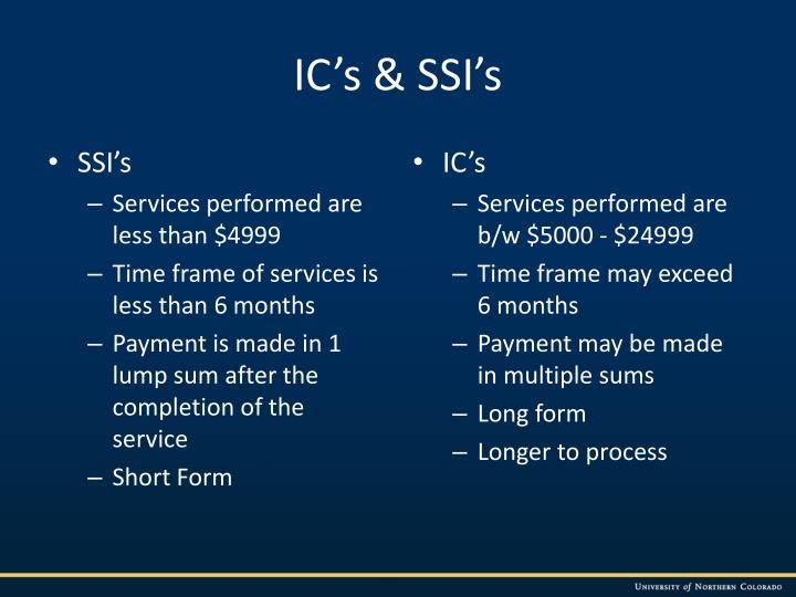 IC's & SSI's