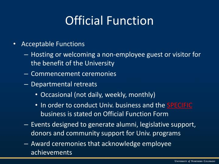 Official Function