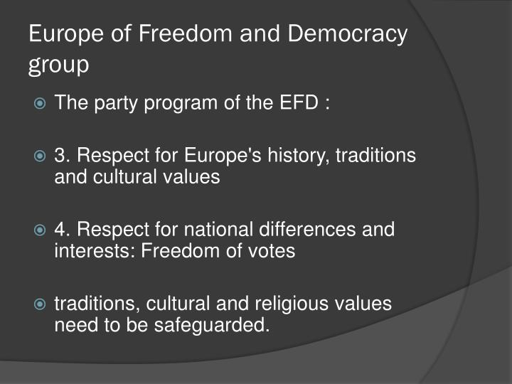 Europe of Freedom and Democracy group