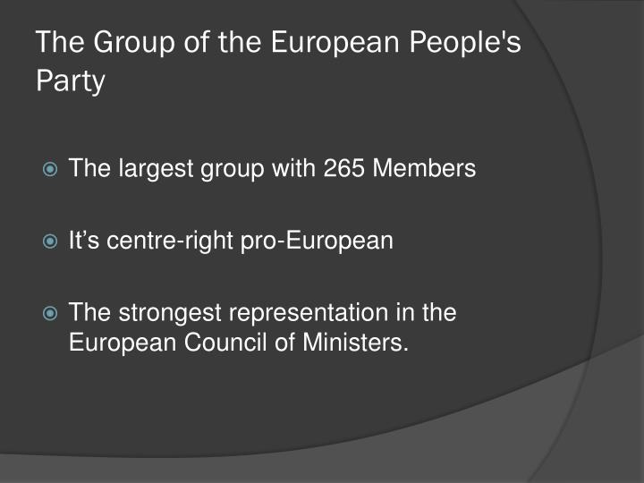The group of the european people s party