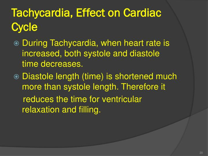 Tachycardia, Effect on Cardiac Cycle